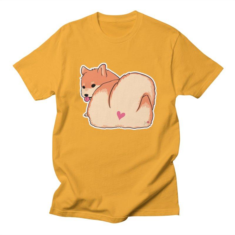 Shiba Inu Butt Women's Regular Unisex T-Shirt by Designs by Billy Wan