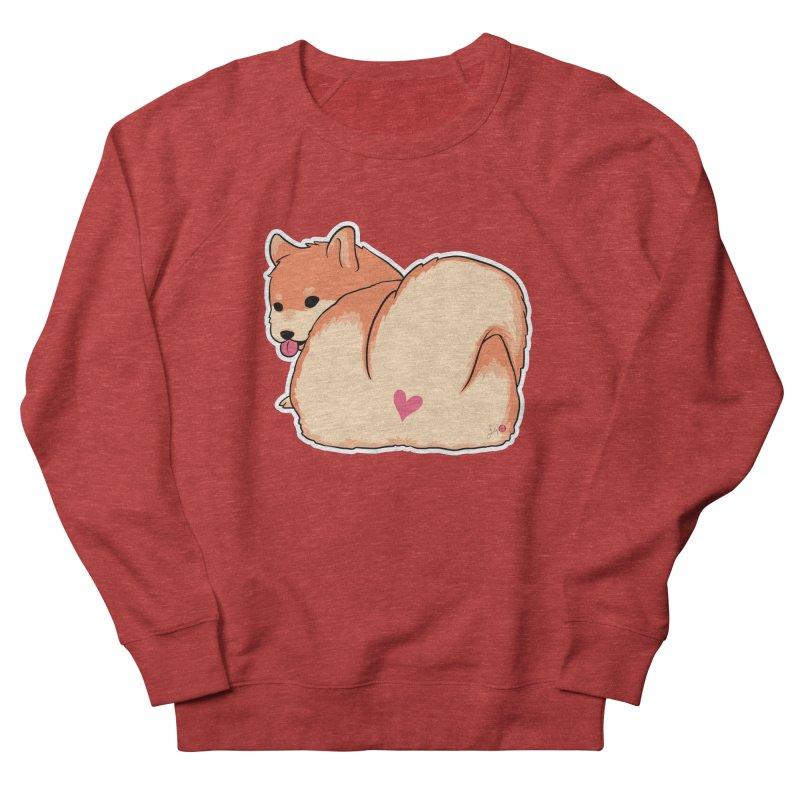 Shiba Inu Butt Men's French Terry Sweatshirt by Designs by Billy Wan
