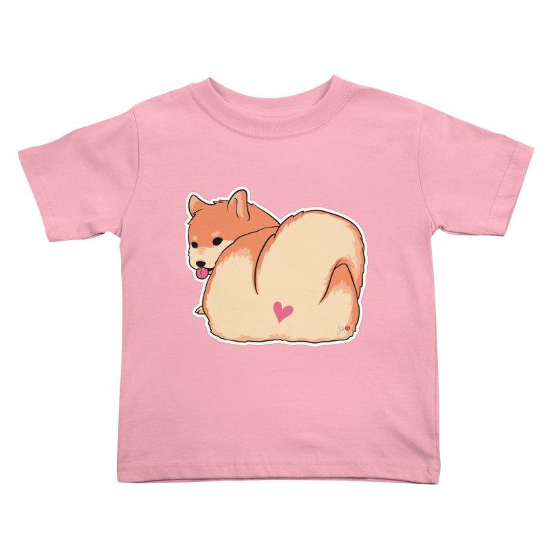 Shiba Inu Butt Kids Toddler T-Shirt by Designs by Billy Wan