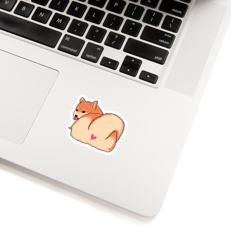 Shiba Inu Butt Accessories Sticker by Designs by Billy Wan