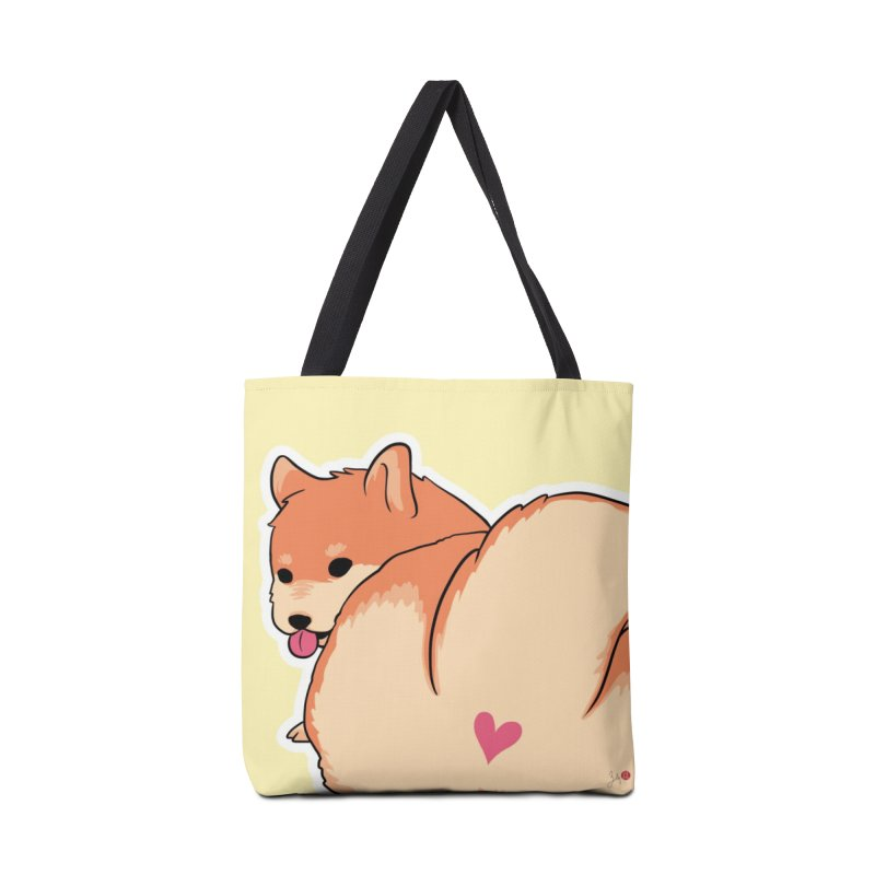 Shiba Inu Butt Accessories Tote Bag Bag by Designs by Billy Wan
