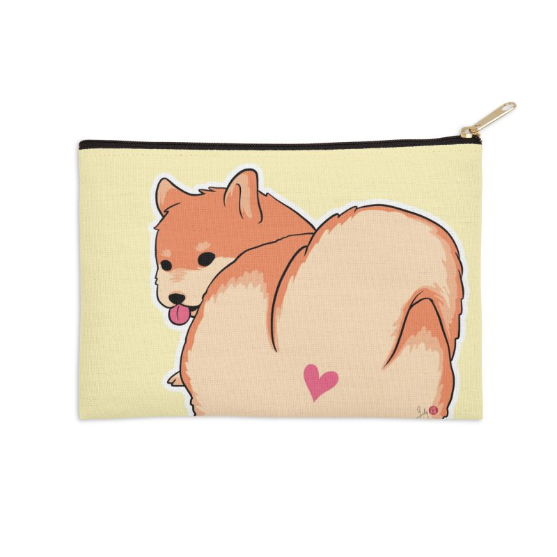Shiba Inu Butt Accessories Zip Pouch by Designs by Billy Wan
