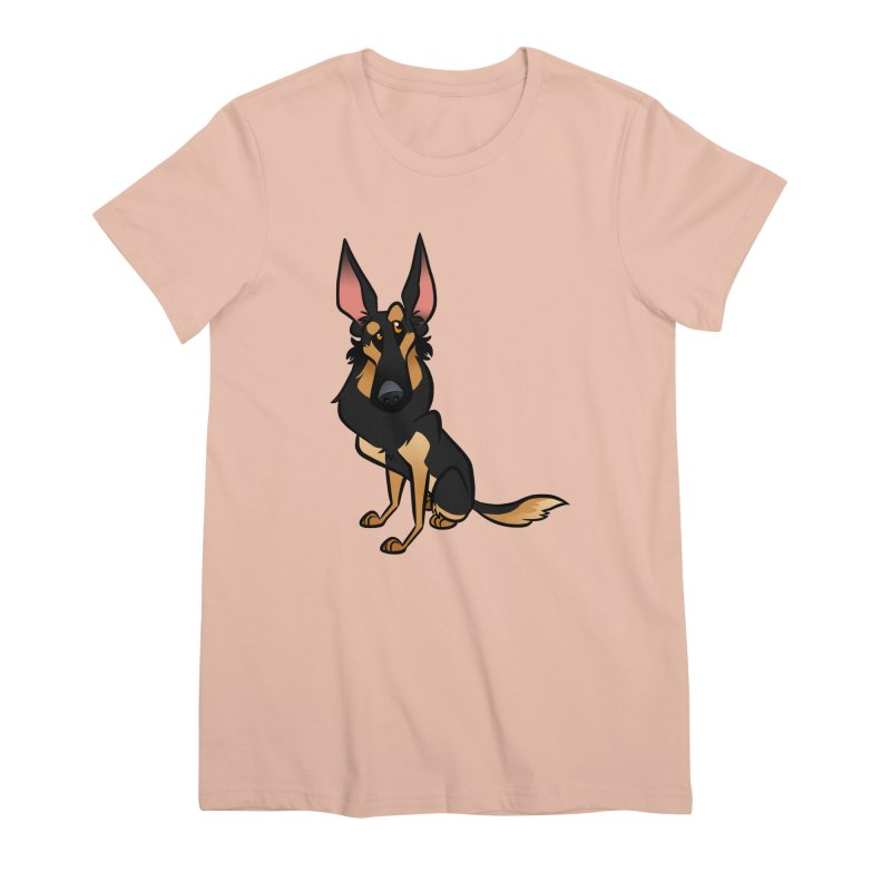 Black and Tan Shepherd Women's Premium T-Shirt by binarygod's Artist Shop