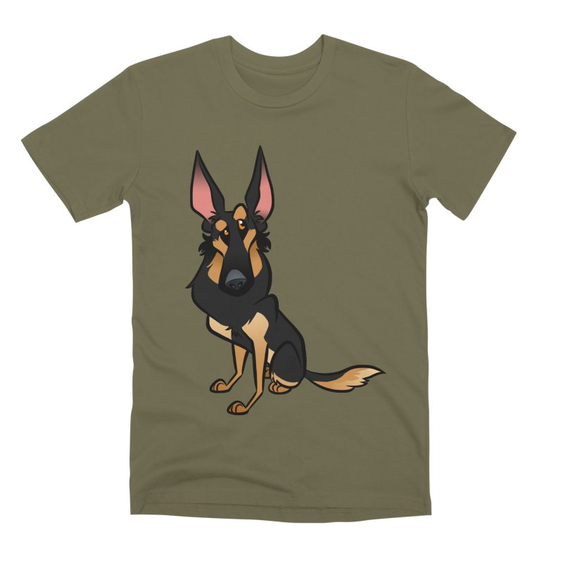Black and Tan Shepherd Men's Premium T-Shirt by binarygod's Artist Shop