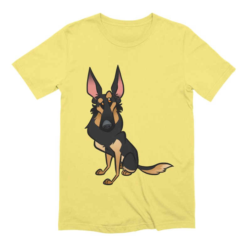 Black and Tan Shepherd Men's Extra Soft T-Shirt by binarygod's Artist Shop
