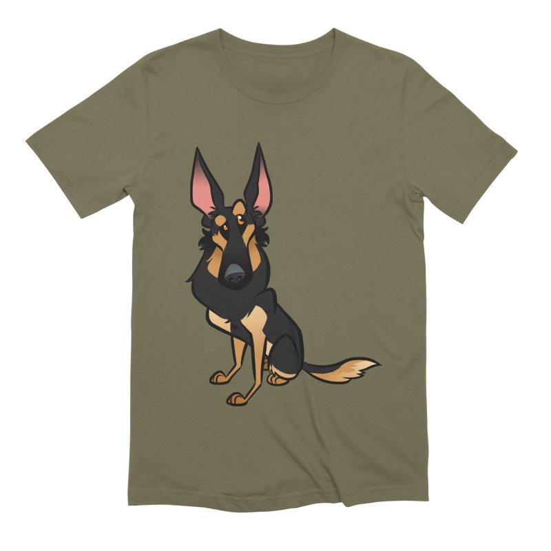 Black and Tan Shepherd Men's Extra Soft T-Shirt by binarygod's Artist Shop