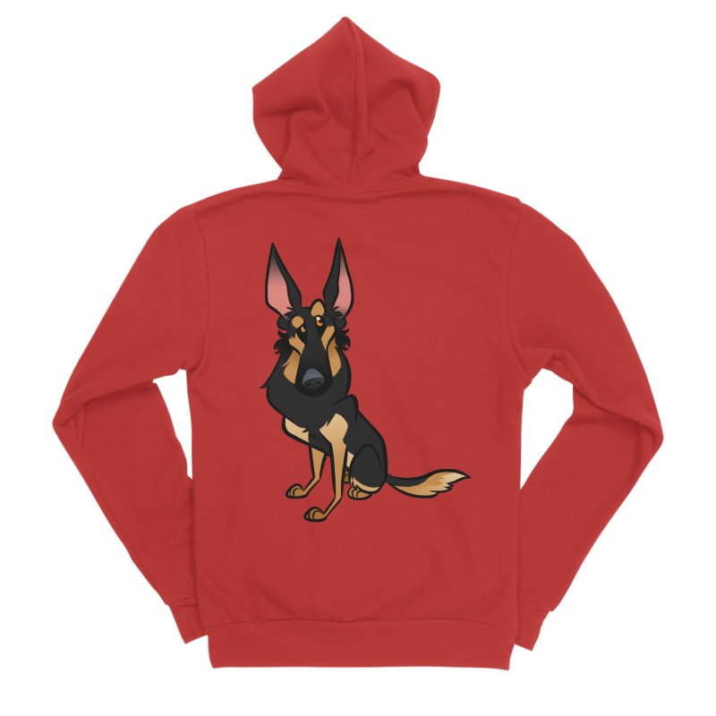 Black and Tan Shepherd Men's Sponge Fleece Zip-Up Hoody by binarygod's Artist Shop
