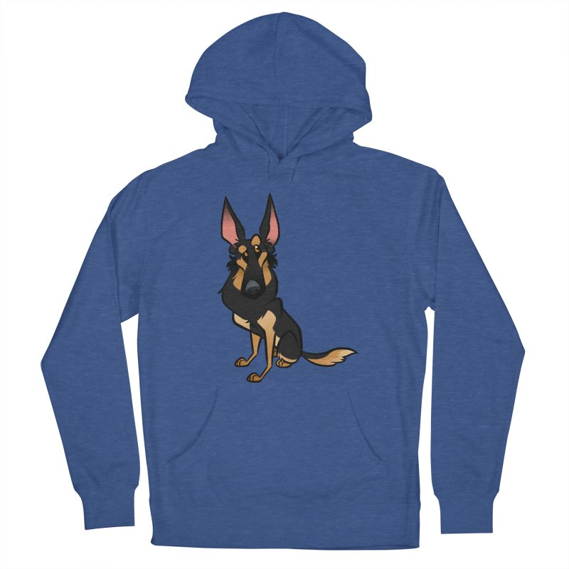 Black and Tan Shepherd Women's French Terry Pullover Hoody by binarygod's Artist Shop