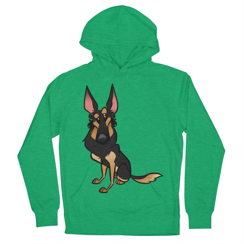 Black and Tan Shepherd Men's French Terry Pullover Hoody by binarygod's Artist Shop