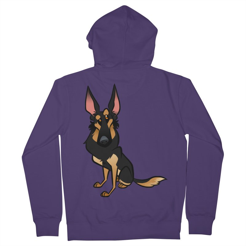 Black and Tan Shepherd Women's French Terry Zip-Up Hoody by binarygod's Artist Shop