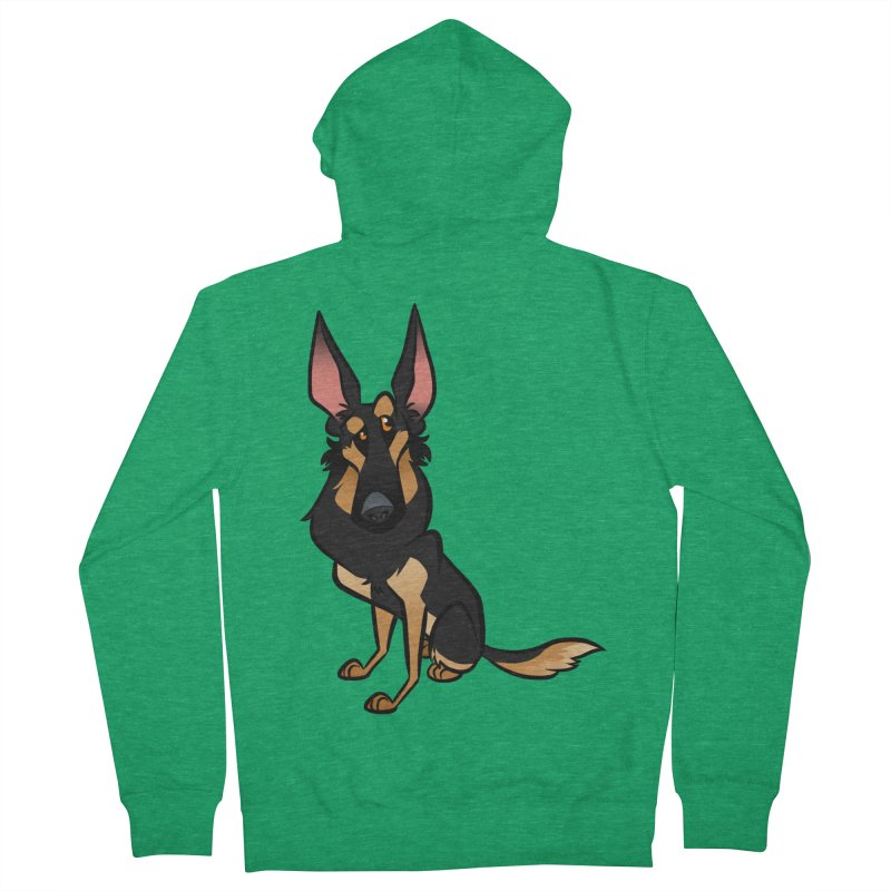 Black and Tan Shepherd Men's Zip-Up Hoody by binarygod's Artist Shop