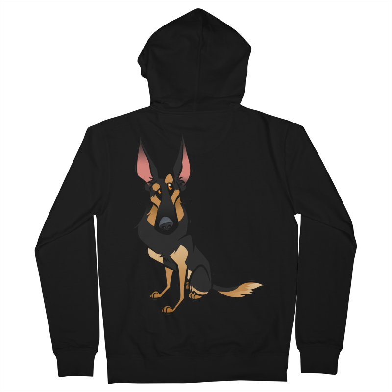 Black and Tan Shepherd Men's French Terry Zip-Up Hoody by binarygod's Artist Shop