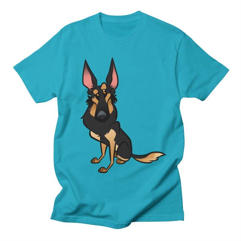 Black and Tan Shepherd Women's Regular Unisex T-Shirt by binarygod's Artist Shop