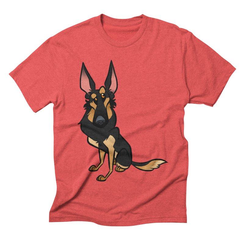 Black and Tan Shepherd Men's Triblend T-Shirt by binarygod's Artist Shop