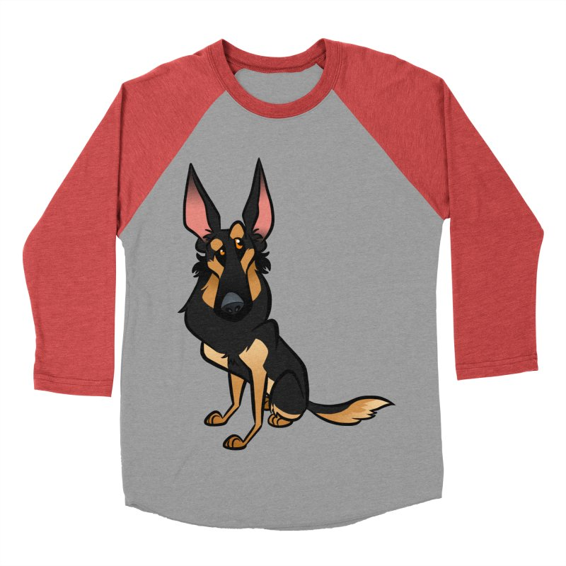 Black and Tan Shepherd Women's Baseball Triblend Longsleeve T-Shirt by binarygod's Artist Shop