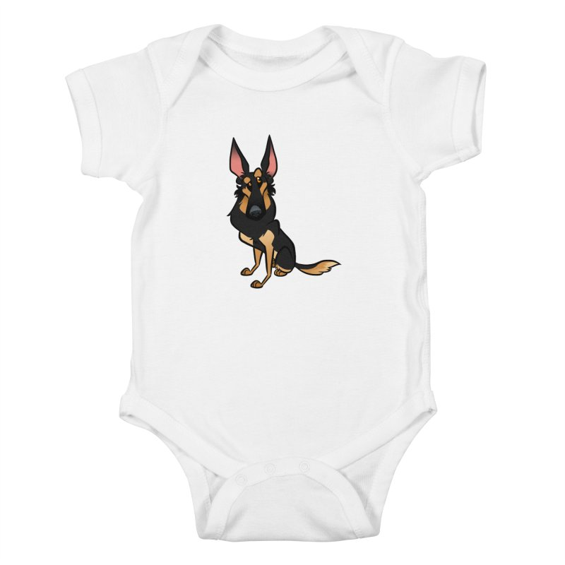 Black and Tan Shepherd Kids Baby Bodysuit by binarygod's Artist Shop