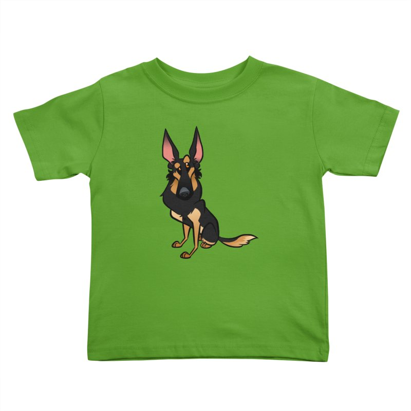 Black and Tan Shepherd Kids Toddler T-Shirt by binarygod's Artist Shop