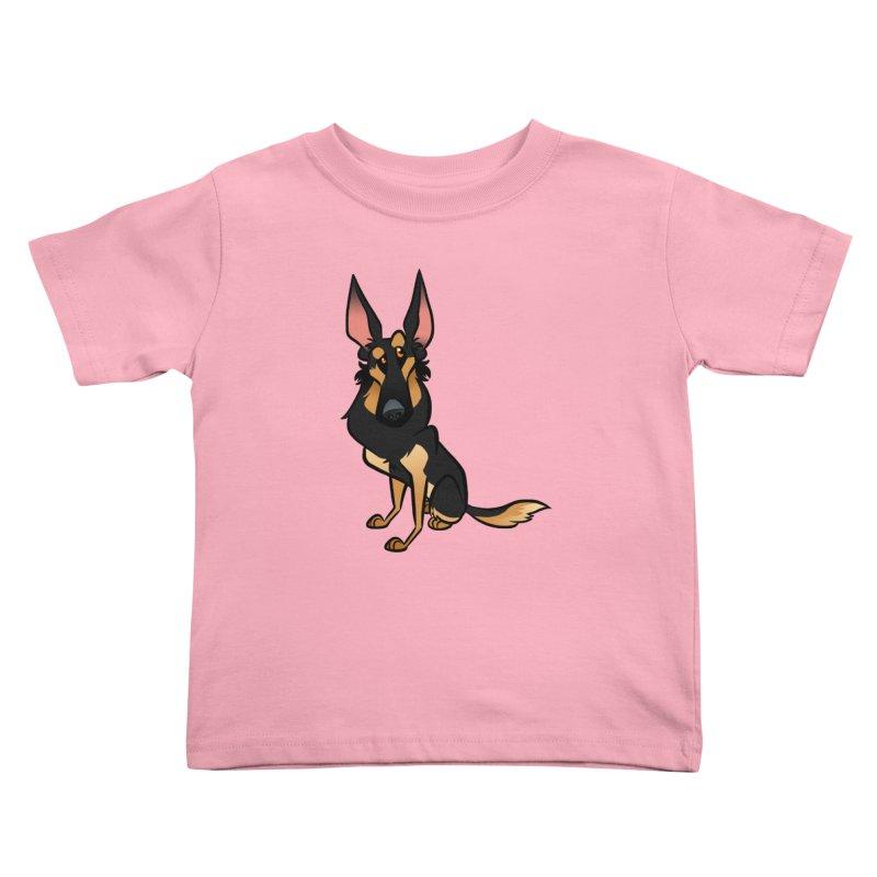 Black and Tan Shepherd Kids Toddler T-Shirt by binarygod's Artist Shop