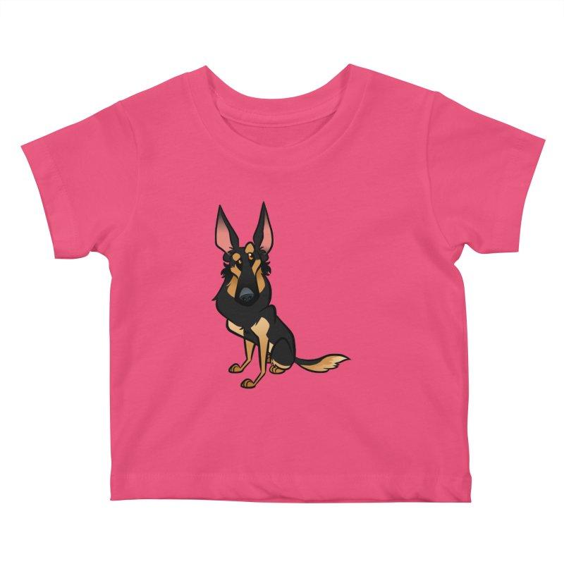 Black and Tan Shepherd Kids Baby T-Shirt by binarygod's Artist Shop