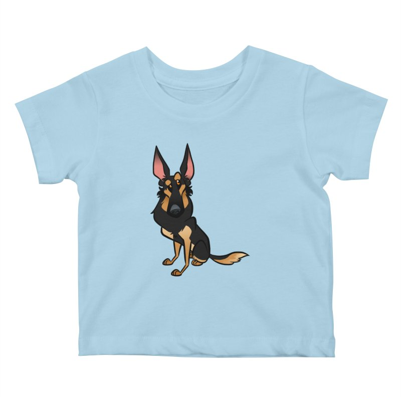 Black and Tan Shepherd Kids Baby T-Shirt by binarygod's Artist Shop