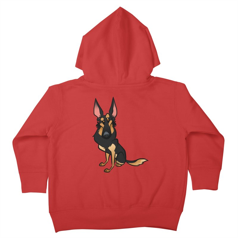 Black and Tan Shepherd Kids Toddler Zip-Up Hoody by binarygod's Artist Shop