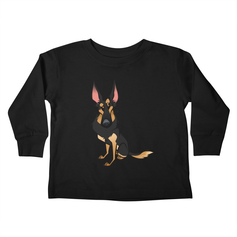 Black and Tan Shepherd Kids Toddler Longsleeve T-Shirt by binarygod's Artist Shop