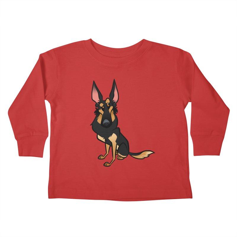 Black and Tan Shepherd Kids Toddler Longsleeve T-Shirt by binarygod's Artist Shop