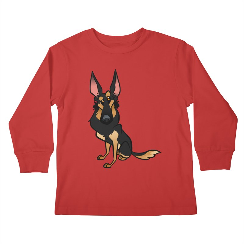 Black and Tan Shepherd Kids Longsleeve T-Shirt by binarygod's Artist Shop