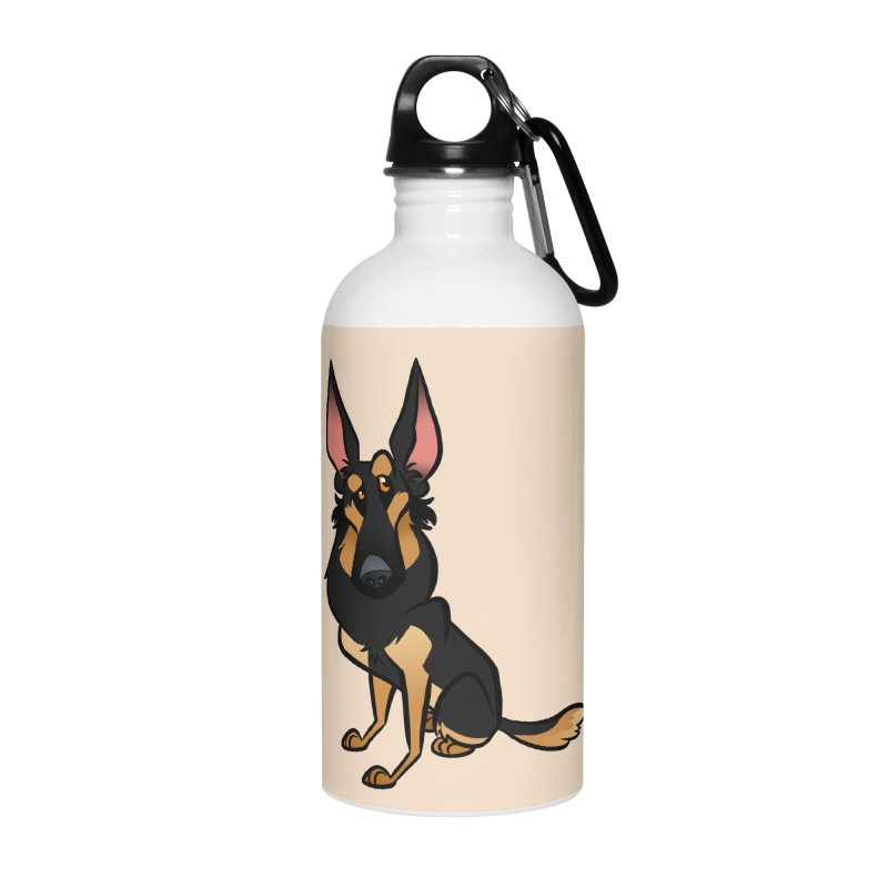 Black and Tan Shepherd Accessories Water Bottle by binarygod's Artist Shop