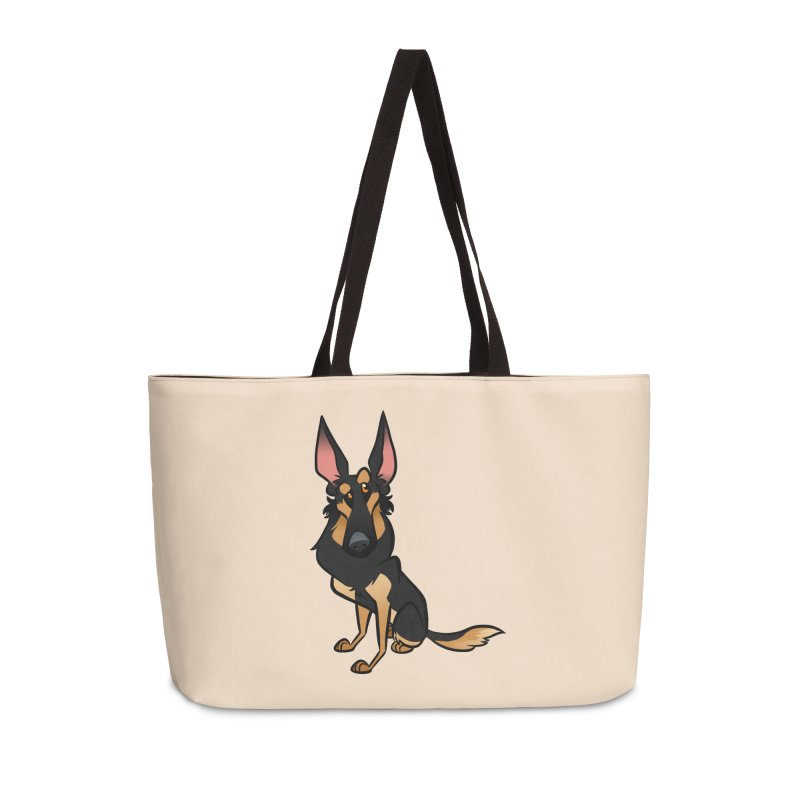 Black and Tan Shepherd Accessories Weekender Bag Bag by binarygod's Artist Shop
