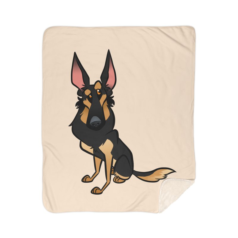 Black and Tan Shepherd Home Blanket by binarygod's Artist Shop