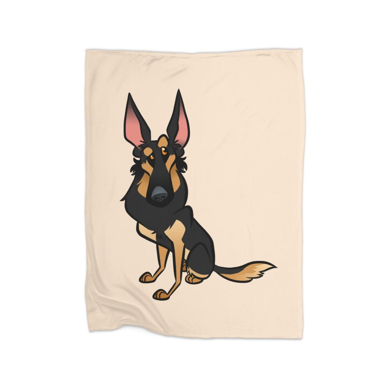 Black and Tan Shepherd Home Fleece Blanket Blanket by binarygod's Artist Shop
