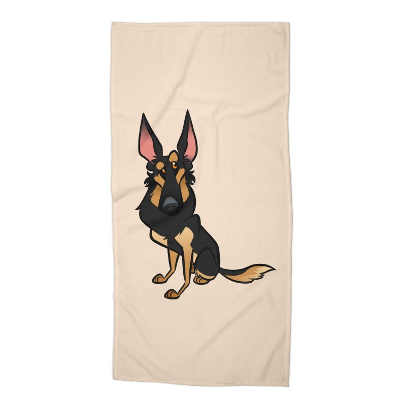 Black and Tan Shepherd Accessories Beach Towel by binarygod's Artist Shop
