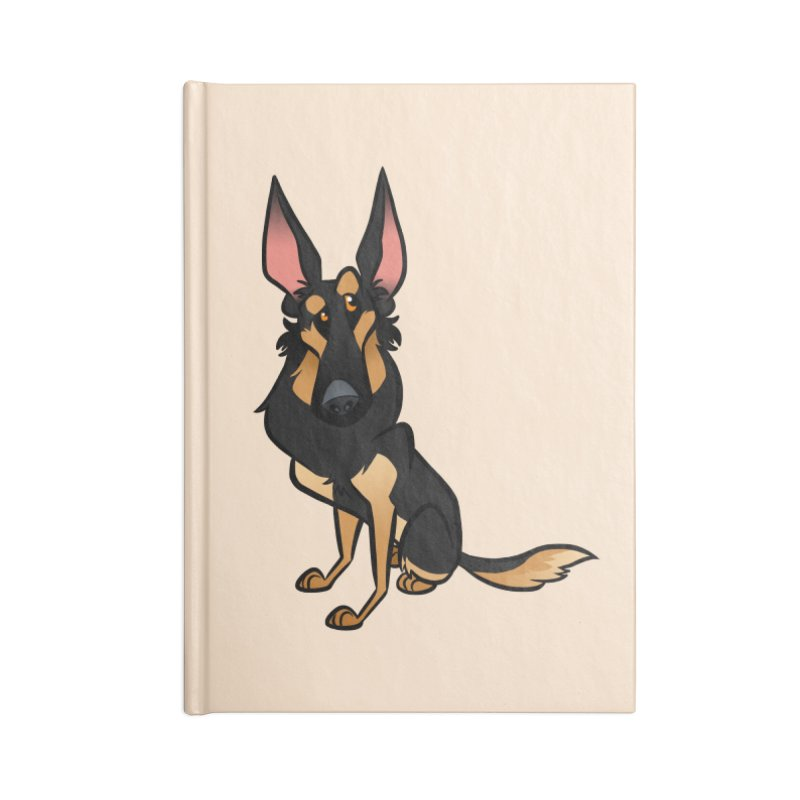 Black and Tan Shepherd Accessories Lined Journal Notebook by binarygod's Artist Shop