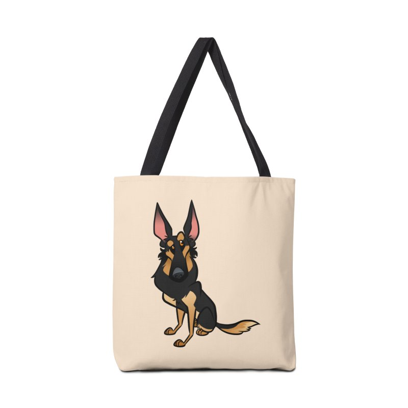Black and Tan Shepherd Accessories Tote Bag Bag by binarygod's Artist Shop