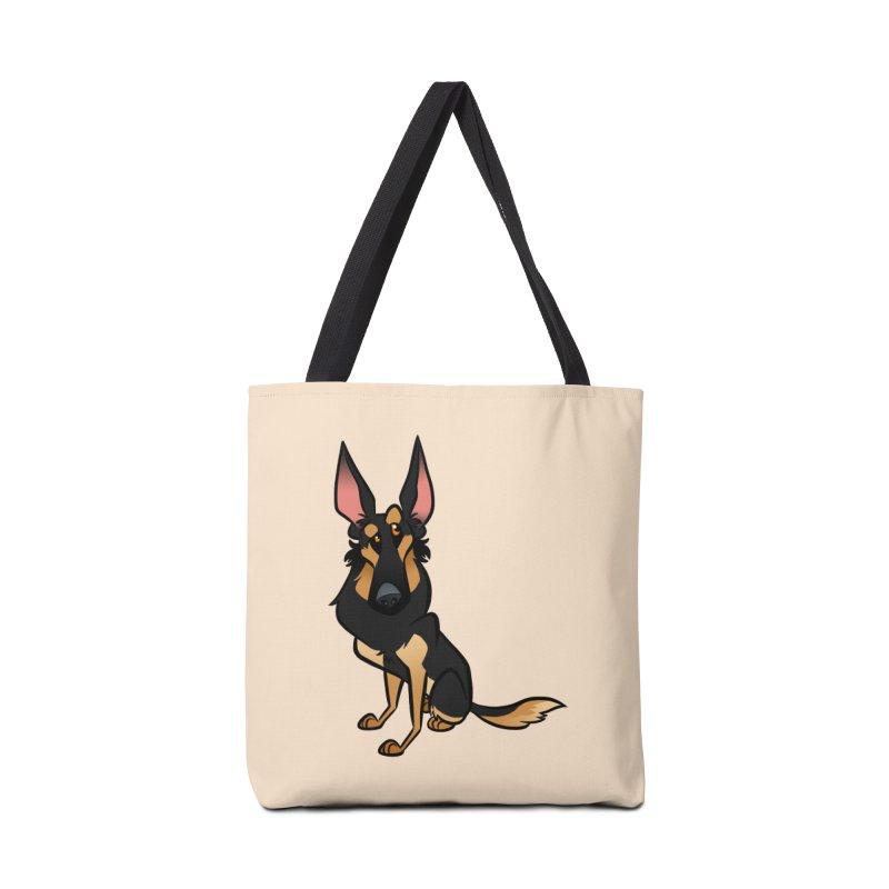 Black and Tan Shepherd Accessories Bag by binarygod's Artist Shop