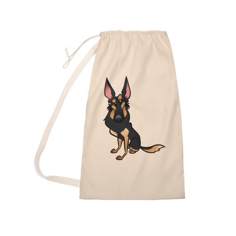 Black and Tan Shepherd Accessories Laundry Bag Bag by binarygod's Artist Shop
