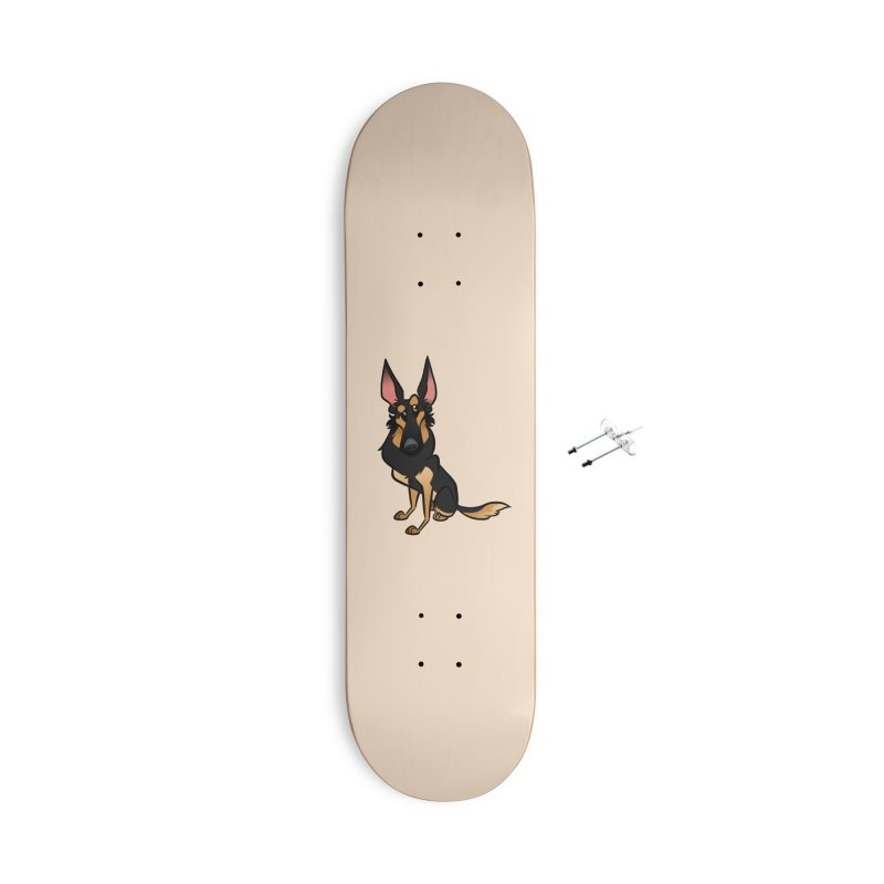 Black and Tan Shepherd Accessories With Hanging Hardware Skateboard by binarygod's Artist Shop