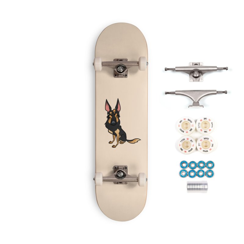 Black and Tan Shepherd Accessories Complete - Premium Skateboard by binarygod's Artist Shop