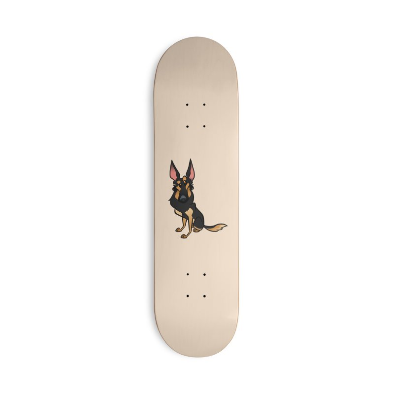 Black and Tan Shepherd Accessories Deck Only Skateboard by binarygod's Artist Shop