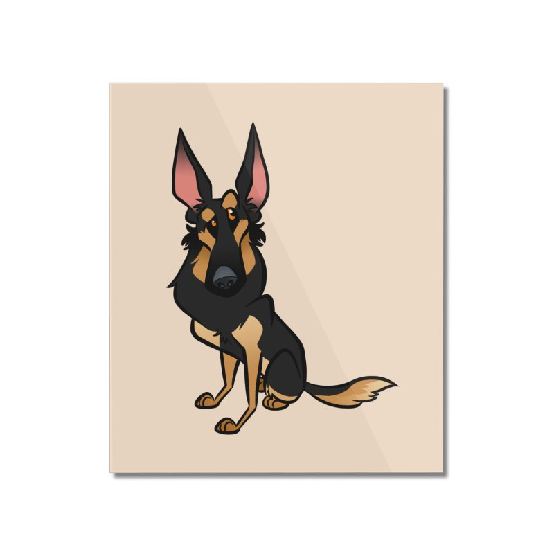Black and Tan Shepherd Home Mounted Acrylic Print by binarygod's Artist Shop