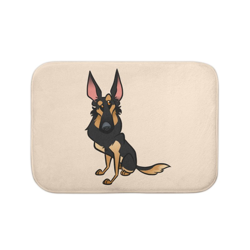 Black and Tan Shepherd Home Bath Mat by binarygod's Artist Shop