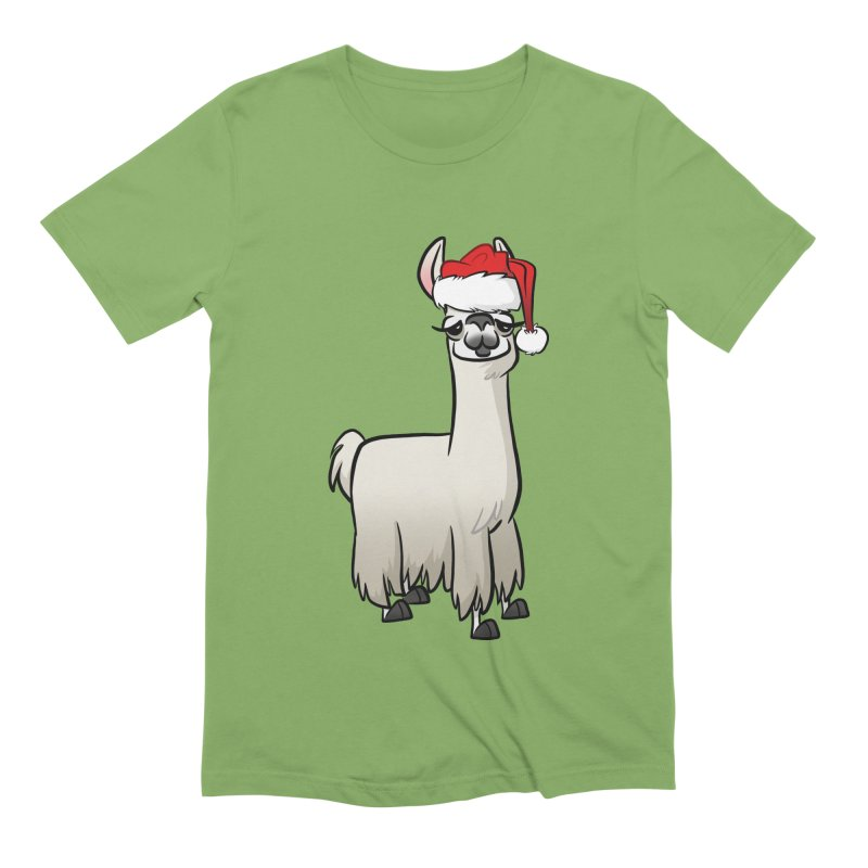 Christmas Llama Men's Extra Soft T-Shirt by binarygod's Artist Shop