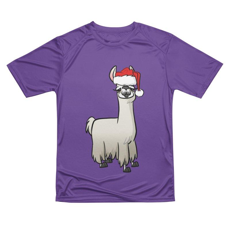 Christmas Llama Women's Performance Unisex T-Shirt by binarygod's Artist Shop