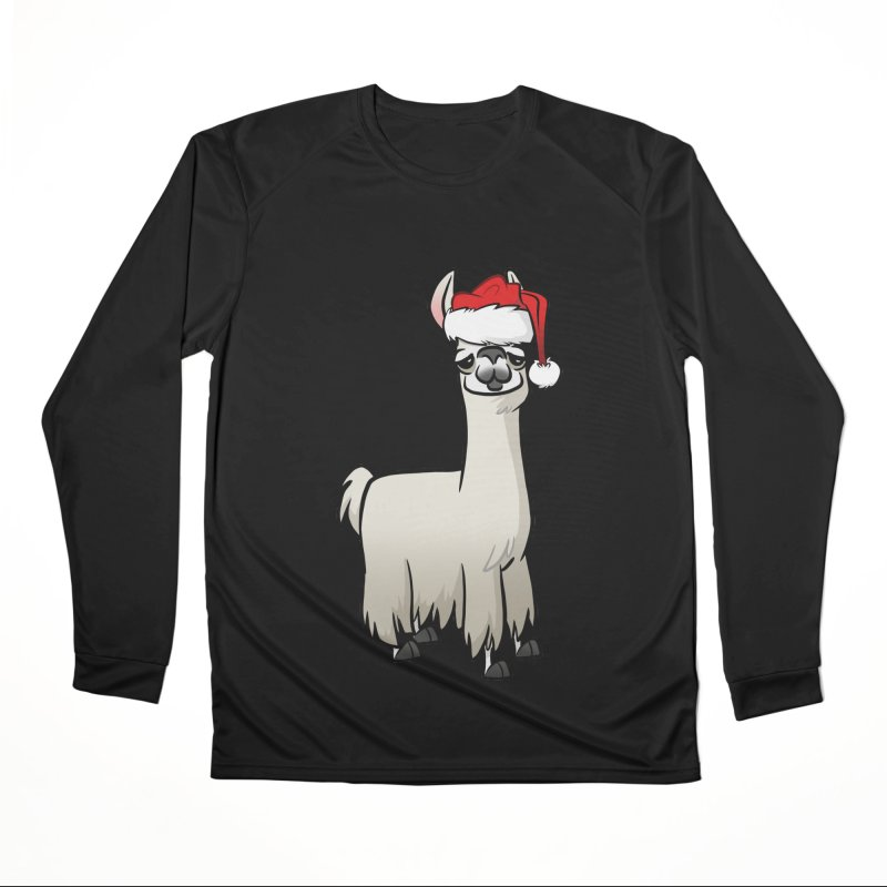 Christmas Llama Men's Performance Longsleeve T-Shirt by binarygod's Artist Shop