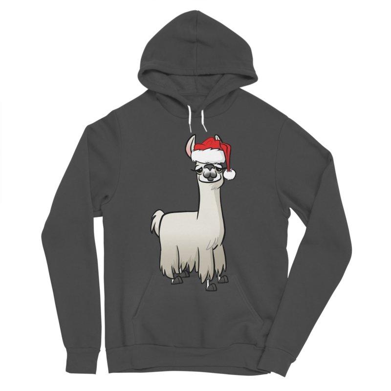 Christmas Llama Men's Sponge Fleece Pullover Hoody by binarygod's Artist Shop