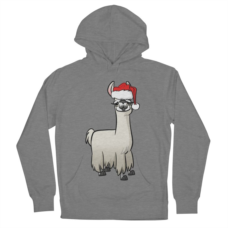 Christmas Llama Women's French Terry Pullover Hoody by binarygod's Artist Shop