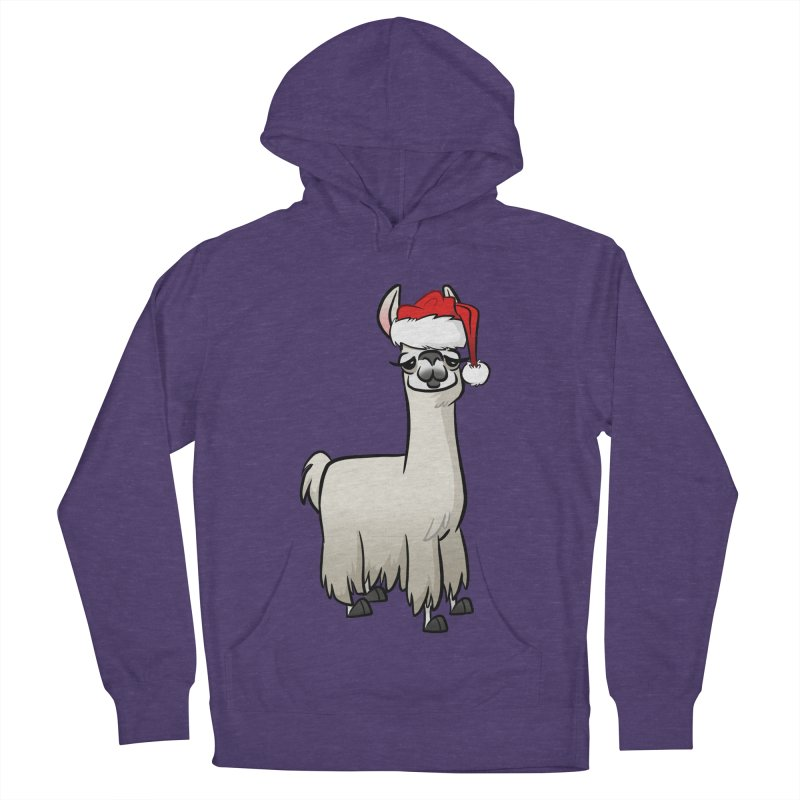 Christmas Llama Men's French Terry Pullover Hoody by binarygod's Artist Shop
