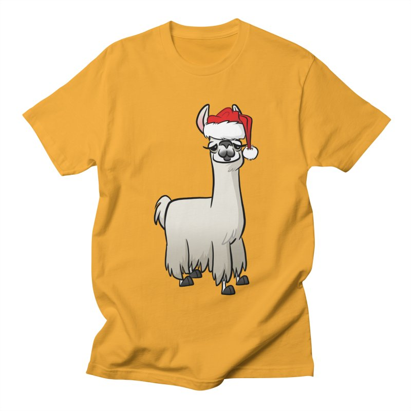 Christmas Llama Men's Regular T-Shirt by binarygod's Artist Shop