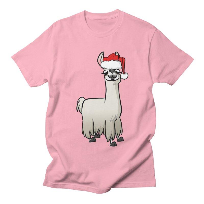 Christmas Llama Women's Regular Unisex T-Shirt by binarygod's Artist Shop